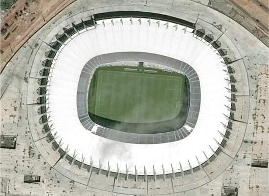 Estádios da Copa são fotografados do espaço