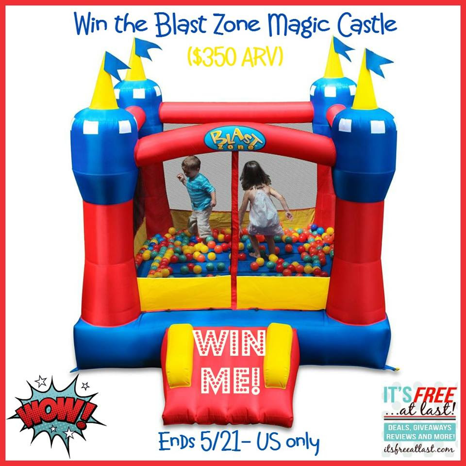 Blast Zone Bounce House Magic Castle Giveaway. Ends 5/21