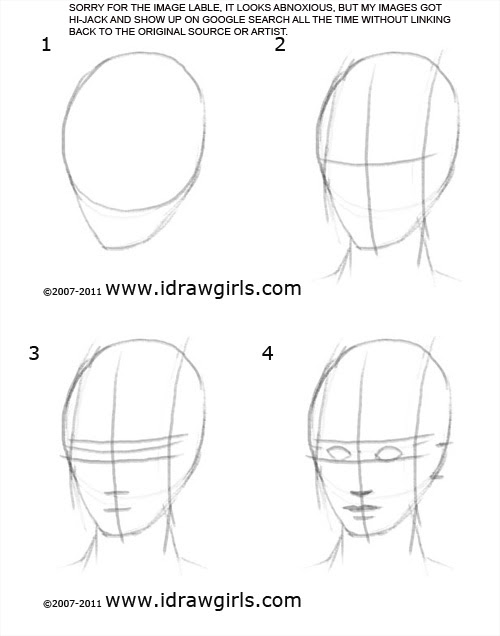 How to draw face step 1