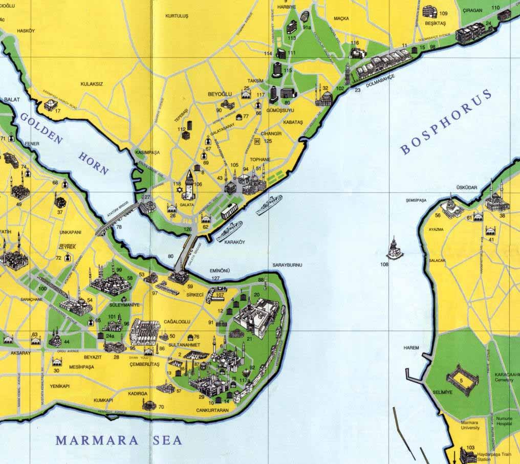 La Carte De Istanbul Turquie