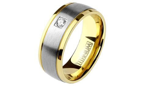 Spikes Men's Titanium Comfort Fit Wedding Band Ring