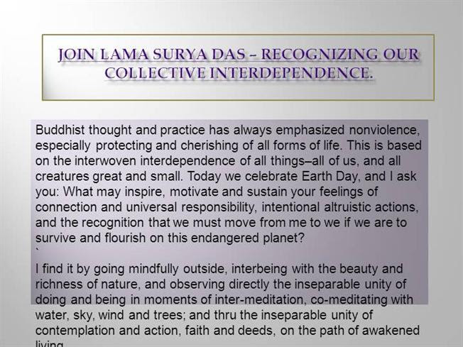 Join Lama Surya Das Recognizing Our Collective Interdependence