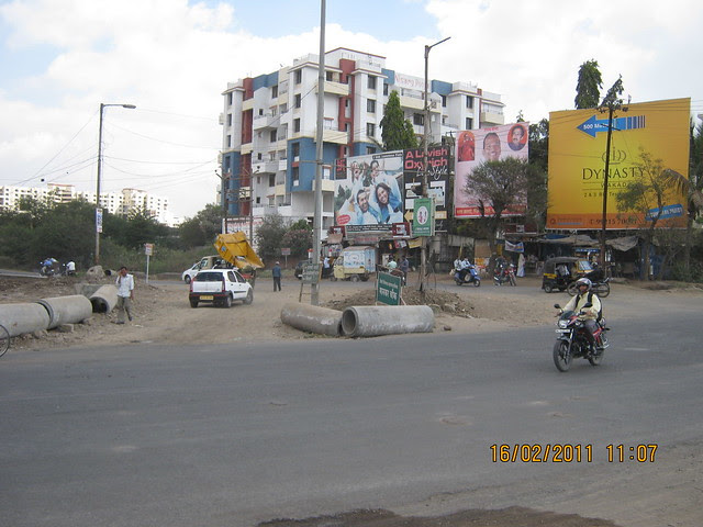Hoarding of Dynasty in Mankar Chowk - Kaspate Wasti - Wakad