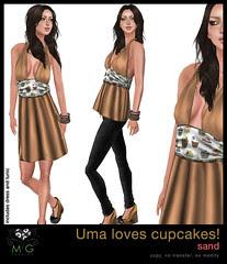 [MG fashion] Uma loves cupcakes! (sand)