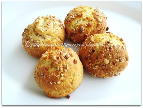 Eggless Wholewheat Saffron Walnut Cookies