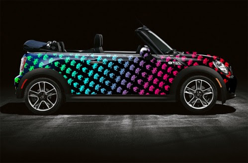 Space Invaders and Pac-Man Mini Cooper Art Cars   Craziest Gadgets