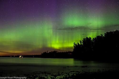 Aurora Borealis. Beaconia, Manitoba.