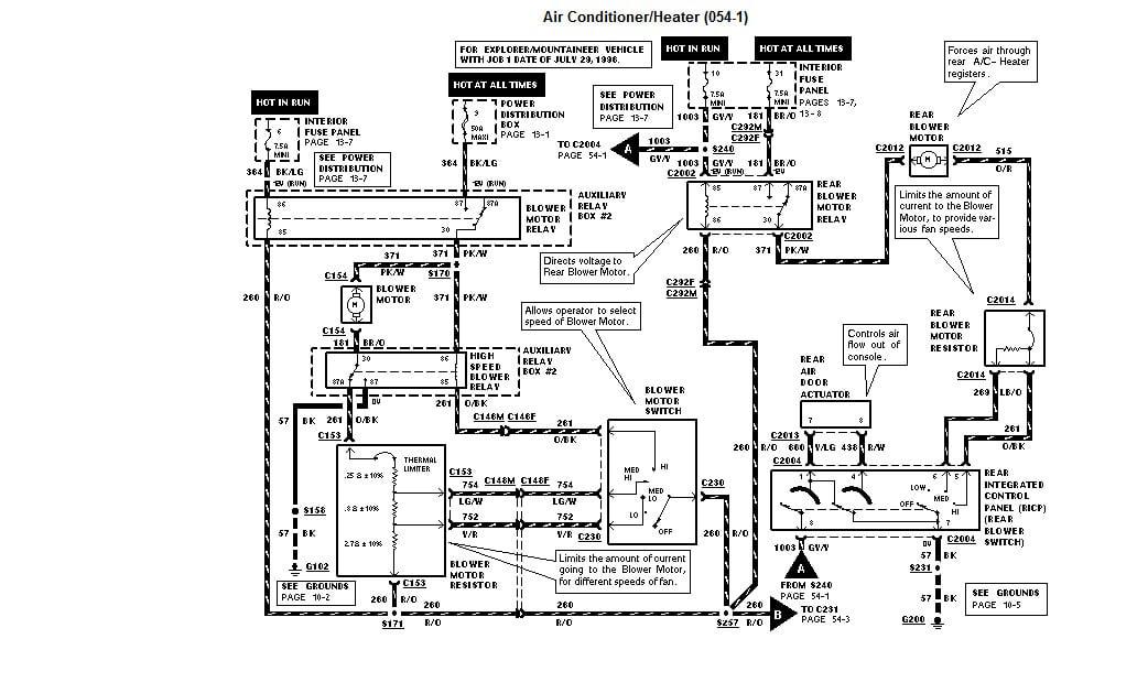 1996 Ford explorer eddie bauer radio wiring diagram