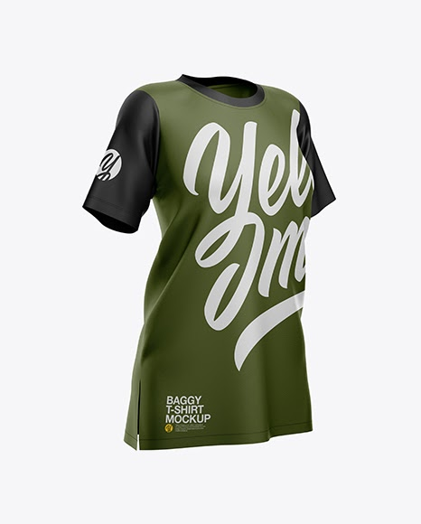 Download Womens Baggy T-Shirt Jersey Mockup PSD File 79.11 MB ...