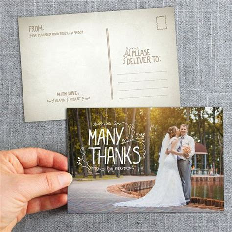 Post Cards, hand lettered thank you cards. Country, rustic