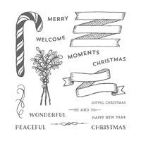 Set de tampons résine Banners for Christmas