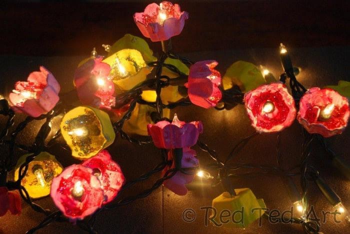 Egg Carton Craft Ideas: Fairy Blossom Lights