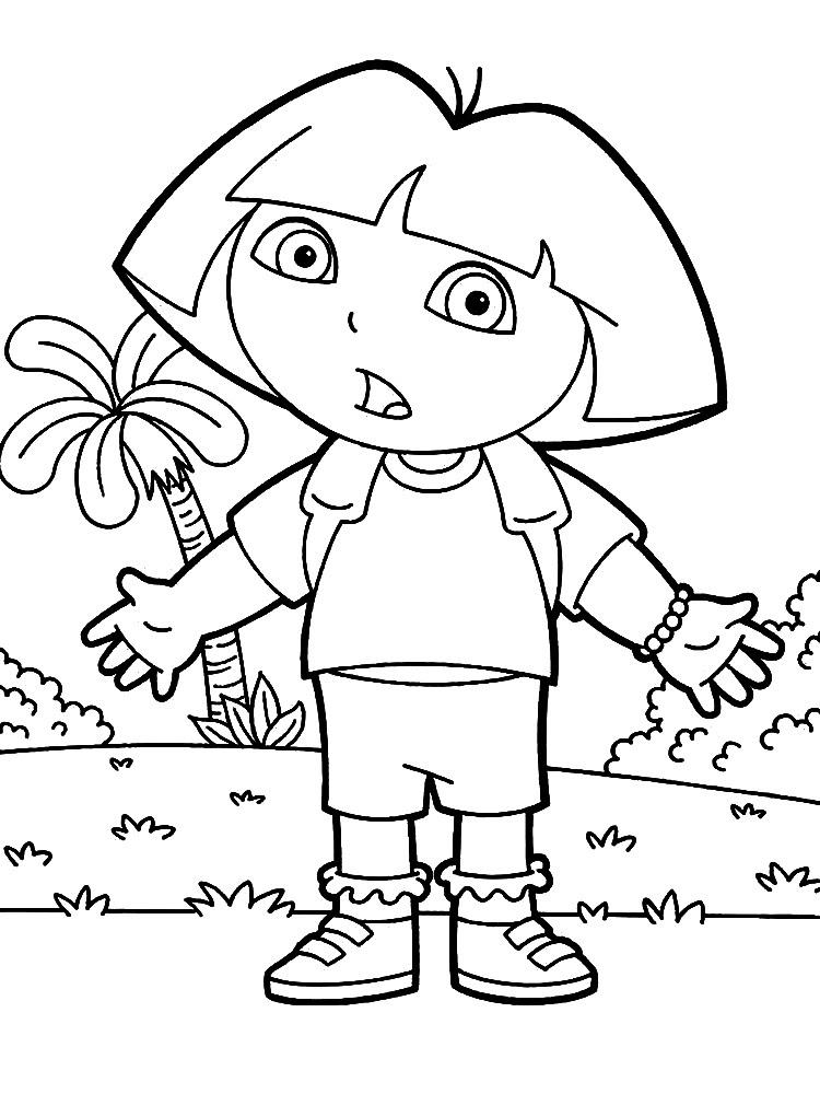 Descargamos Dibujos Para Colorear Dora La Exploradora