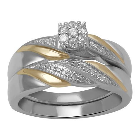 Eternal Treasures 1/5 CTTW Sterling Silver Two Tone