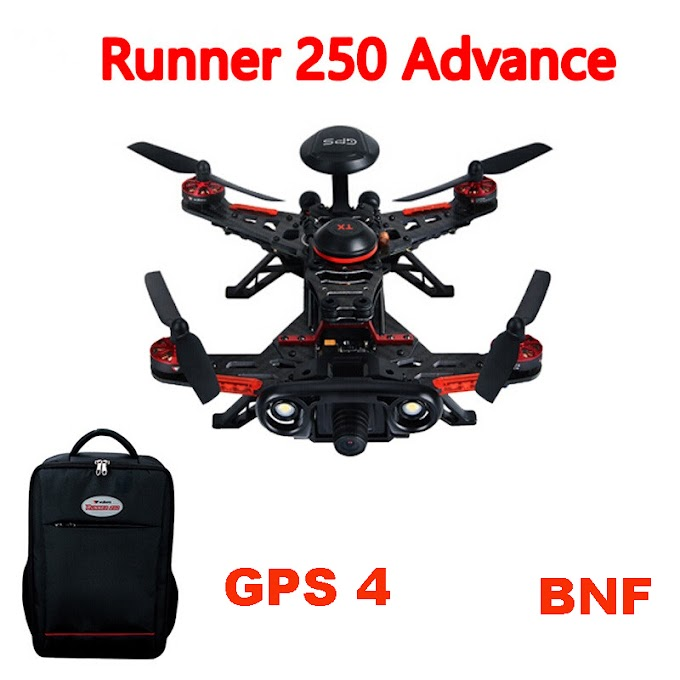 Walkera Runner 250 Advance BNF (Without Transmitter) GPS RC Drone Quadcopter with Battery OSD 800TVL Camera backpack