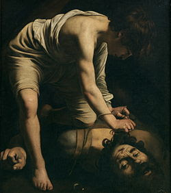 David and Goliath, by Caravaggio, c. 1599. Prado, Madrid