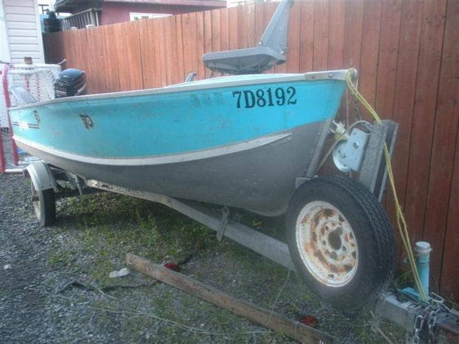 14 ft Springbok Aluminum Boat,18 HP Mercury Outboard and Trailer for