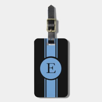 CHIC LUGGAGE/BAG TAG_153 BLUE/BLACK/MONOGRAM