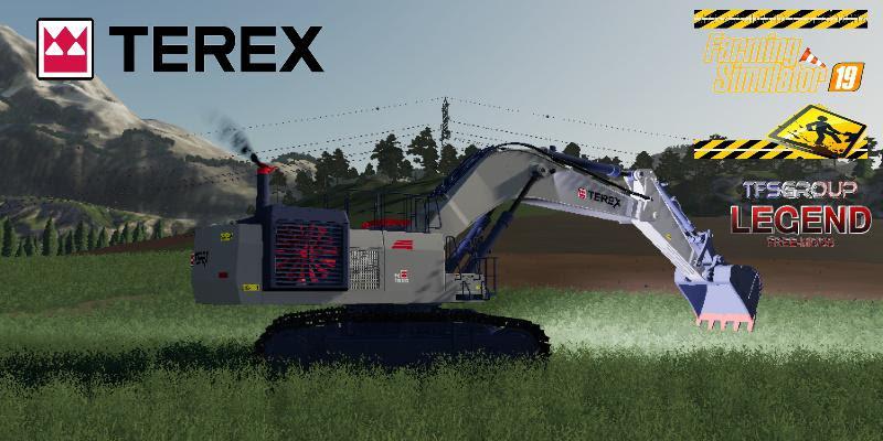 Excavator Terex Rh90f Dirth V2 0 Fs19 Farming Simulator 19 Mod Fs19 Mod