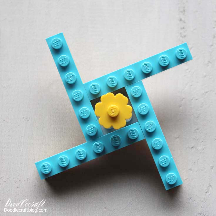 lego fidget spinner easy to make diy how to make build assemble kids craft summer projects (2)
