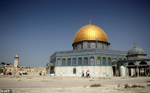 The Dome of the Rock in the old city of Jerusalem