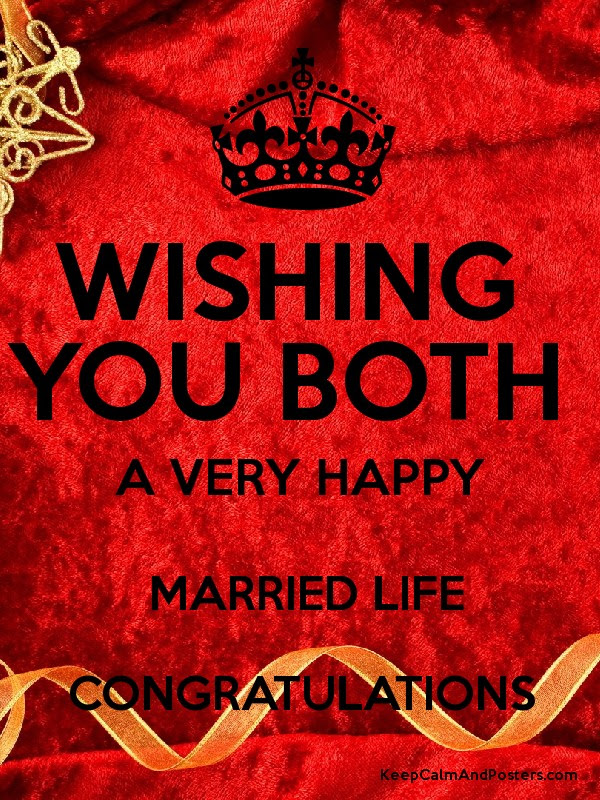 Wishing You Both A Very Happy Married Life Congratulations Keep