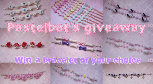 I'm holding a giveaway on my blogspot!You can win a bracelet of your choice from my webshop!http://eyecandy.storenvy.com/http://carousel-dreams.blogspot.se/2013/03/giveaway_17.html