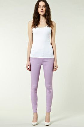 Coloured Ultra Skinny Jeans in Lilac