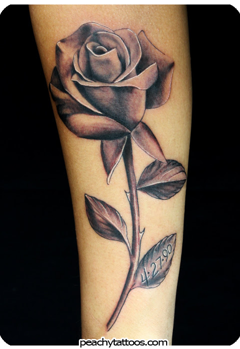 Black Gray Rose Tattoo Tattoo Love