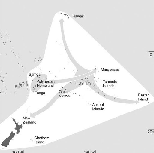 Moana Nui Mass Migration And Triangular Men Abel Tasman 1642