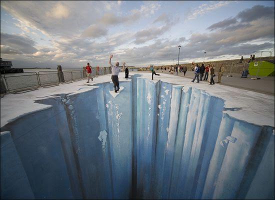 Ice Age pintura em 3d no chão