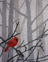 red bird quilt. love this.