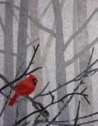 red bird quilt. love this.