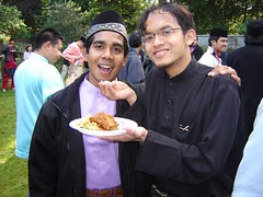 Bersama Acab di Open House Haji Fauzi
