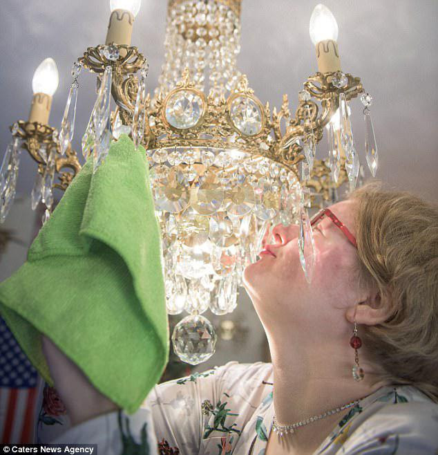 Amanda Liberty is in an open relationship with her chandelier collection, revealing that she is engaged to one named Lumiere (not pictured)
