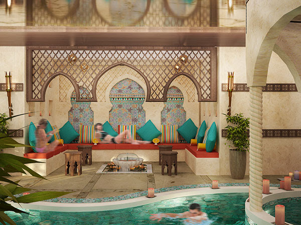 Indoor pool for a Hotel (Dubai-UAE) on Behance