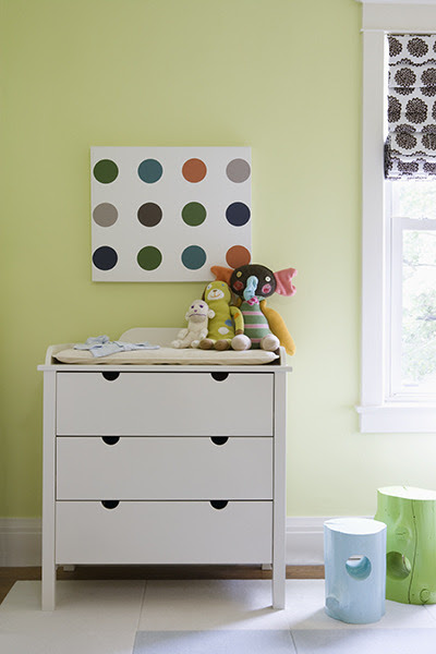 Kids' rooms are great for old furniture painted a fresh new colour.