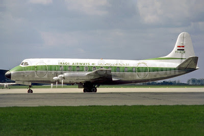 Iraqi Airways Vickers Viscount 735 YI-ACM (msn 69) EMA (SM Fitzwilliams Collection). Image: 912468.