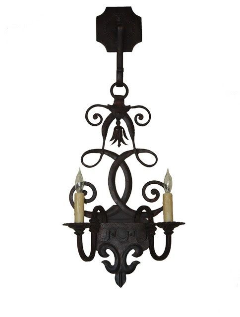 New Hand Made Iron Sconces - mediterranean - wall sconces - san