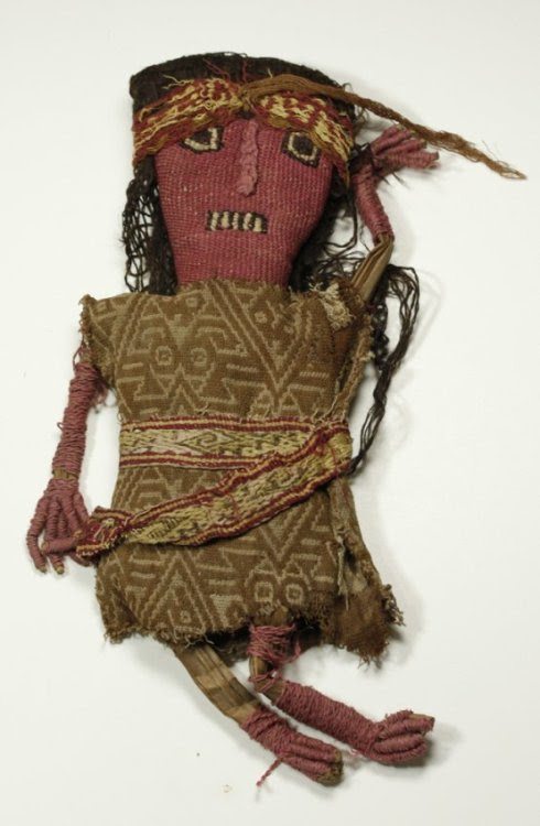 An authentic Pre-Columbian woven doll from Northern Peru. Imagine the stories she could tell!