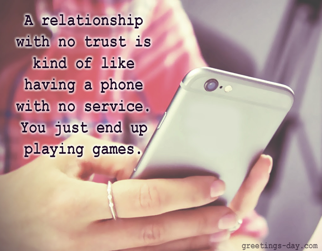 short Love Quotes A relationship with no trust