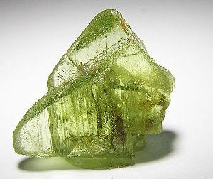 Historic specimen of Forsterite var. peridot, ...