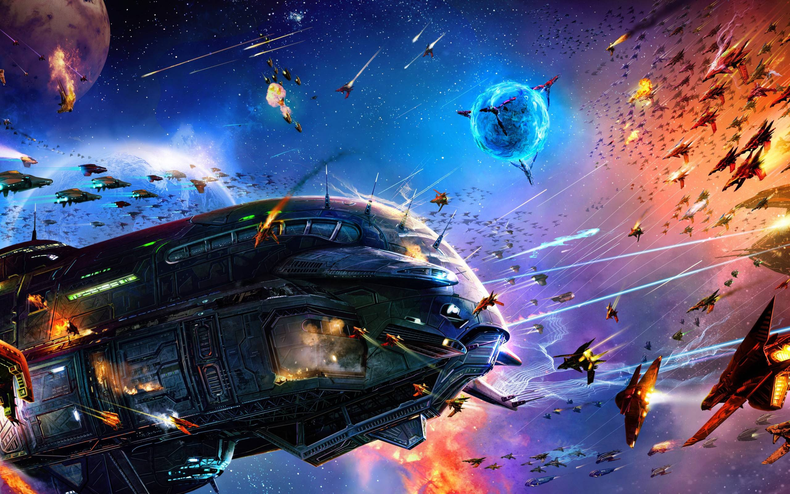 Wallpaper Kerang Download Hd Space Battle Wallpaper