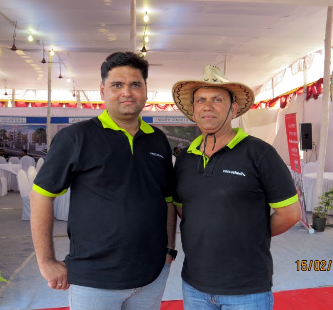 Nitin Kulkarni, Director, and Shirish Konalikar, VP Technical, Vastushodh Projects at AnandGram Wakhari Chaufula - A township of 360 Units of 1 Room Kitchen 1 BHK 2 BHK Terrace Flats in 24 Buildings on Pune Solapur Highway near Kedgaon Railway Station