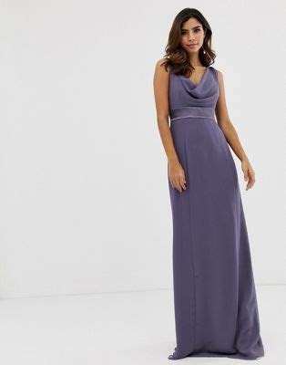 Maids to Measure bridesmaid maxi dress with satin belt and
