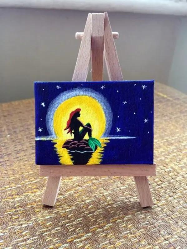 Aesthetic Beginner Small Canvas Paintings Easy Popular Century