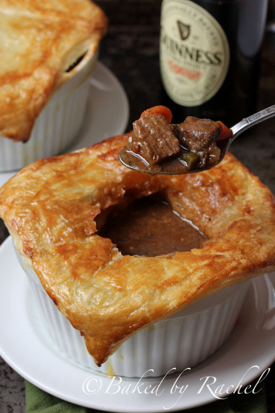 Beef and Guinness Pies with Puff Pastry | Baked by Rachel