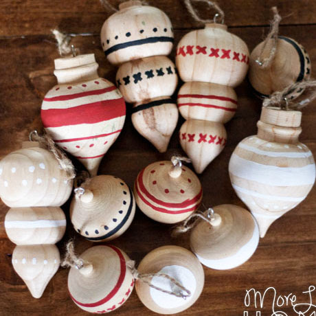 diy handpainted wooden ornaments farmhouse rustic
