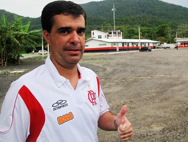 Lopes Junior  auxiliar técnico  Vanderlei Luxemburgo  Flamengo  (Foto: Janir Junior/Globoesporte.com)