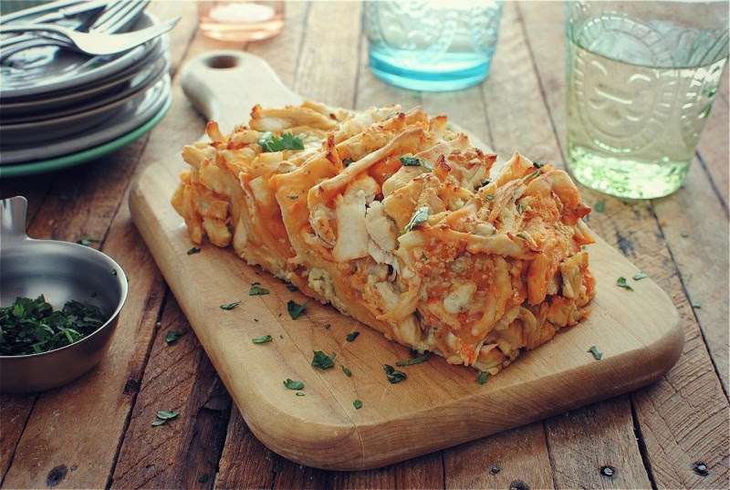 Buffalo Chicken Pull Apart Bread from Bev Cooks | Friday Favorites at www.andersonandgrant.com